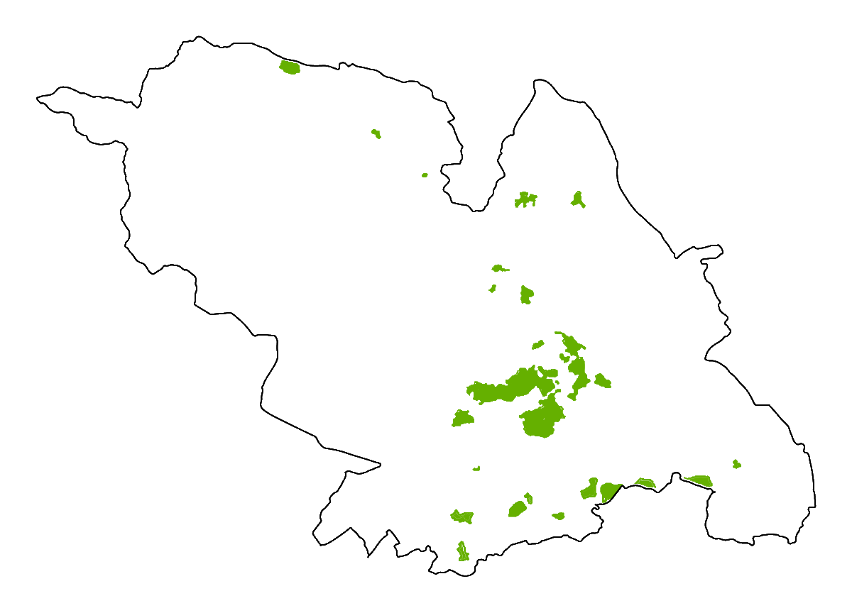 A map of the conservation areas in Sheffield