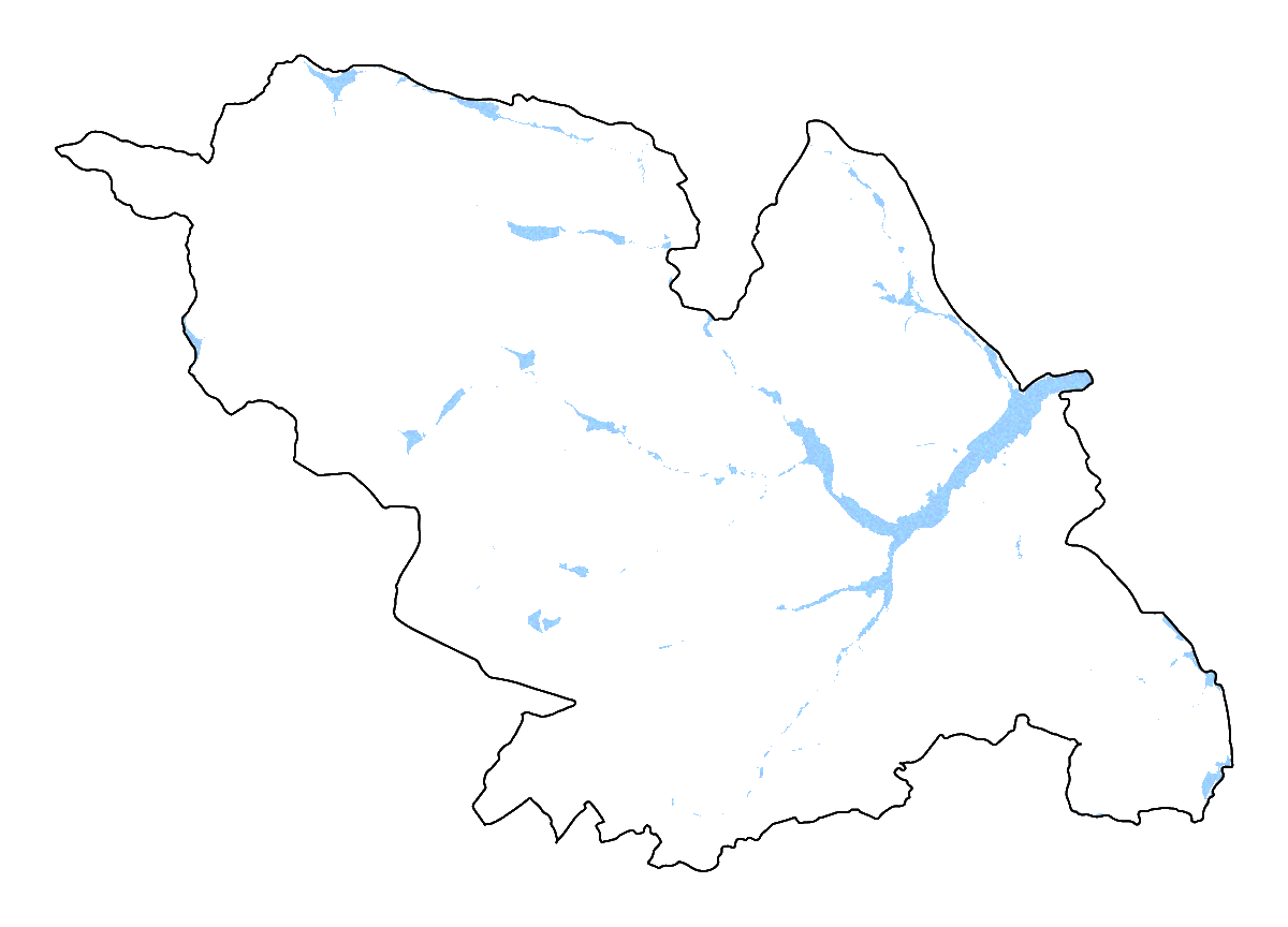 A map of the flood risk areas in Sheffield