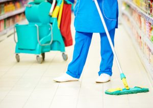 supermarket slipping clean-as-you-go