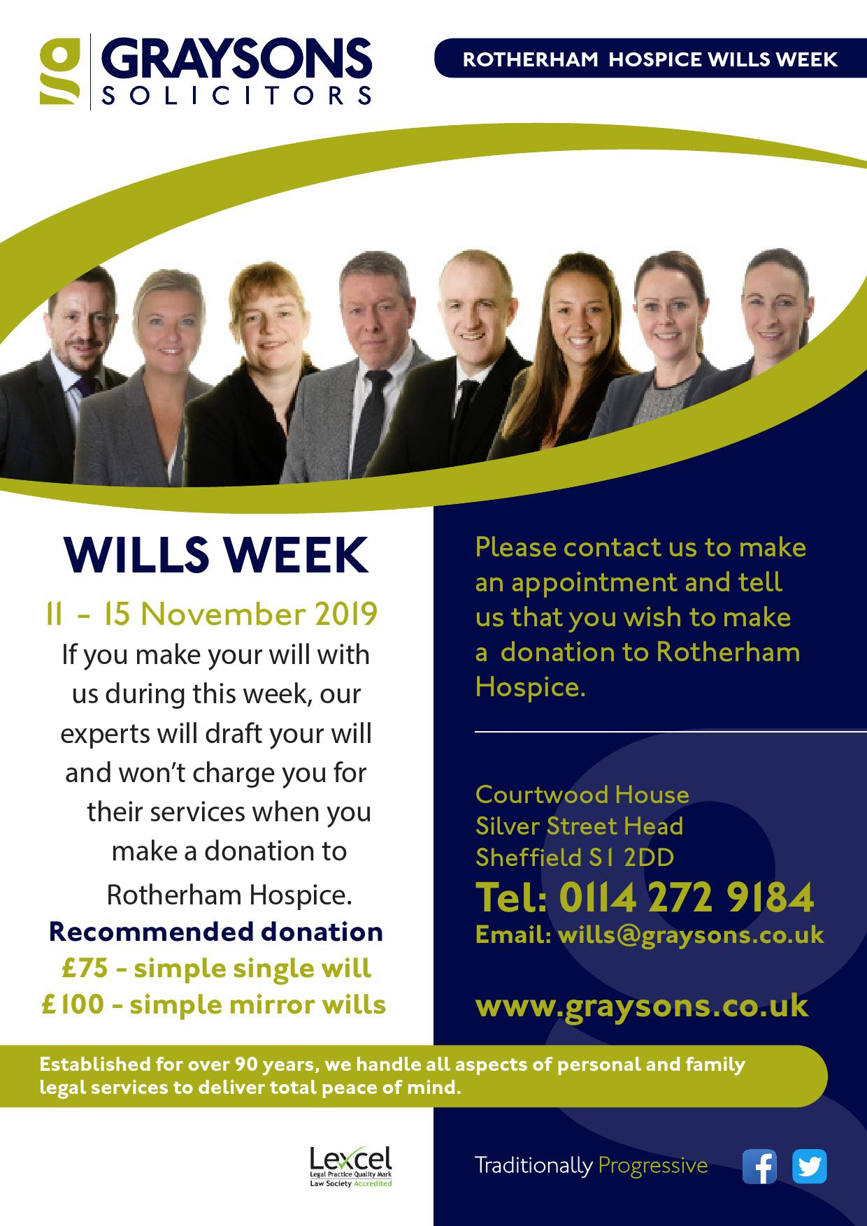 Rotherham Hospice wills week